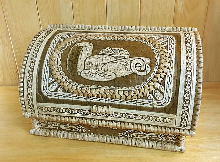 сибирская хлебница из бересты