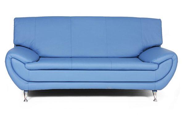 синий диван с экокожи
