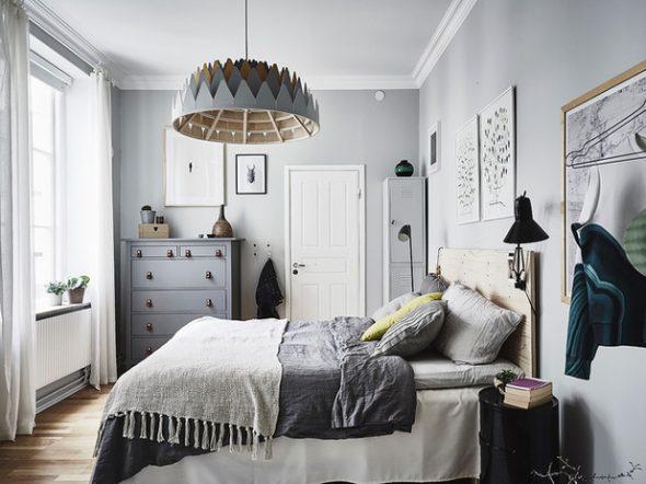 бра в спальне скандинавский стиль
