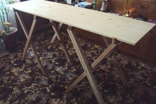 Деревянный складной стол своими руками