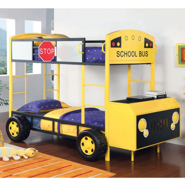современная кровать-автобус