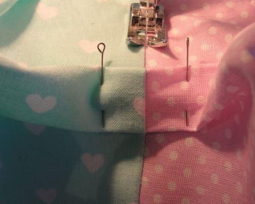 Сшиваем боковые швы