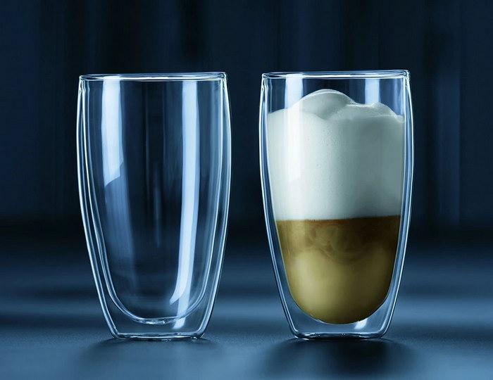 стаканы для латте с двойными стенками
