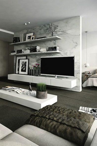 стена с ТВ