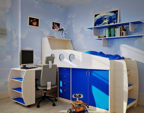 Стильная спальня для мальчика