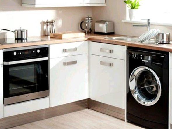стиральная машина на кухне хай тек