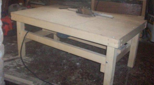 Стационарный стол для циркулярной пилы