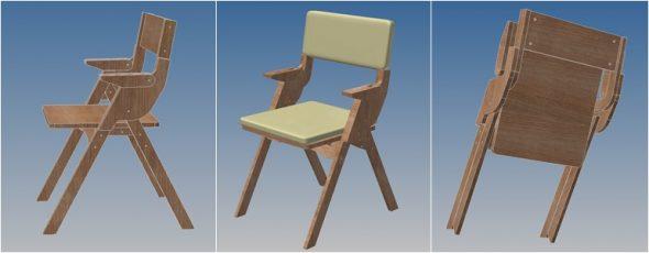 стул из фанеры складной
