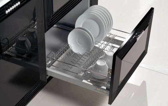 сушилка для посуды хромированная