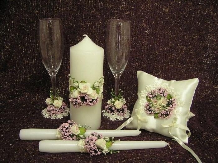 свадебные свечи идеи декор