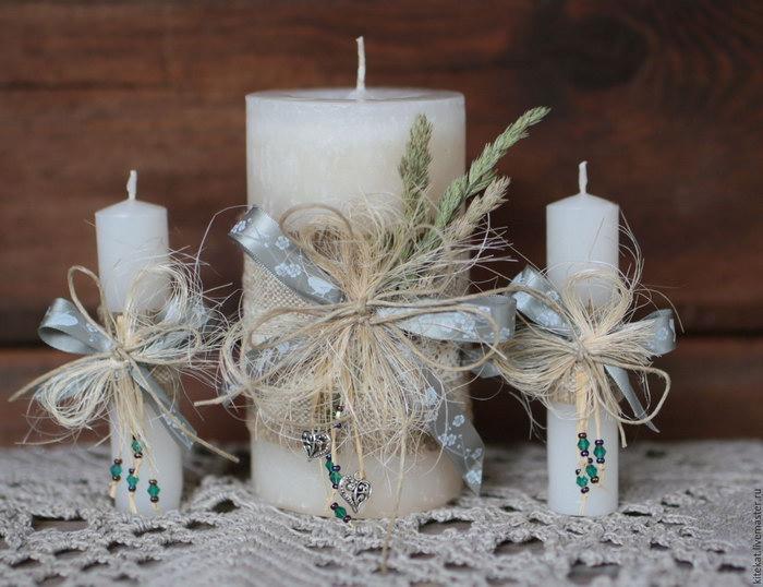 свечи на свадьбу декор идеи