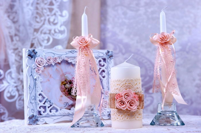свечи на свадьбу идеи фото