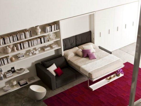 Трансформер кровать-диван в интерьере