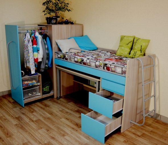 Удобная и функциональная кровать-чердак