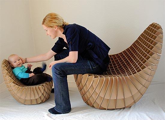 Удобные детские и взрослые кресла из картона