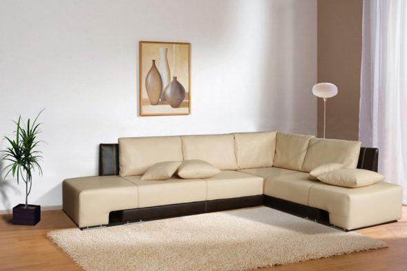 угловой диван бежевый
