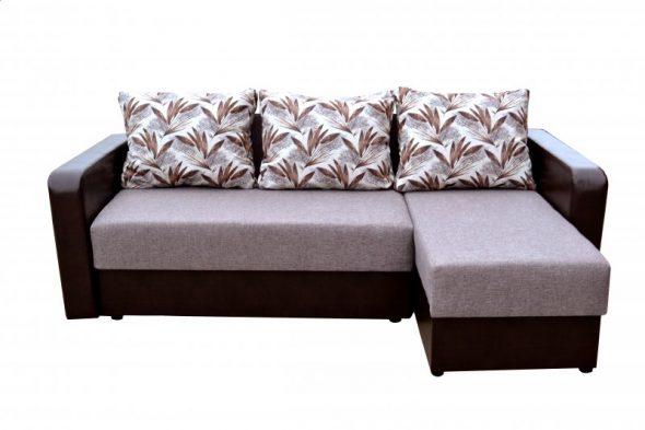 Угловой диван с начинкой из пенополиуретана