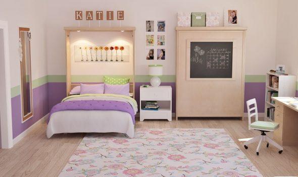 вертикальная откидная кровать в детской