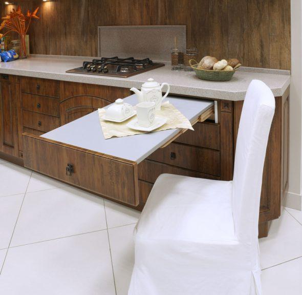 дизайн выдвижного стола