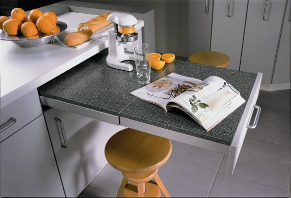 выдвижной стол для кухни